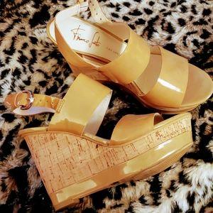 Gorgeous Franco Sarta Wedge Sandals